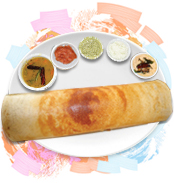 dosa-with-chutneys